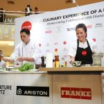 Diana Chan Doing a Demo of her Malaysian Inspired Pesto Prawns with Pasta